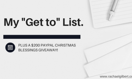 "My ""GET TO"" List {Christmas Blessings Giveaway!}"